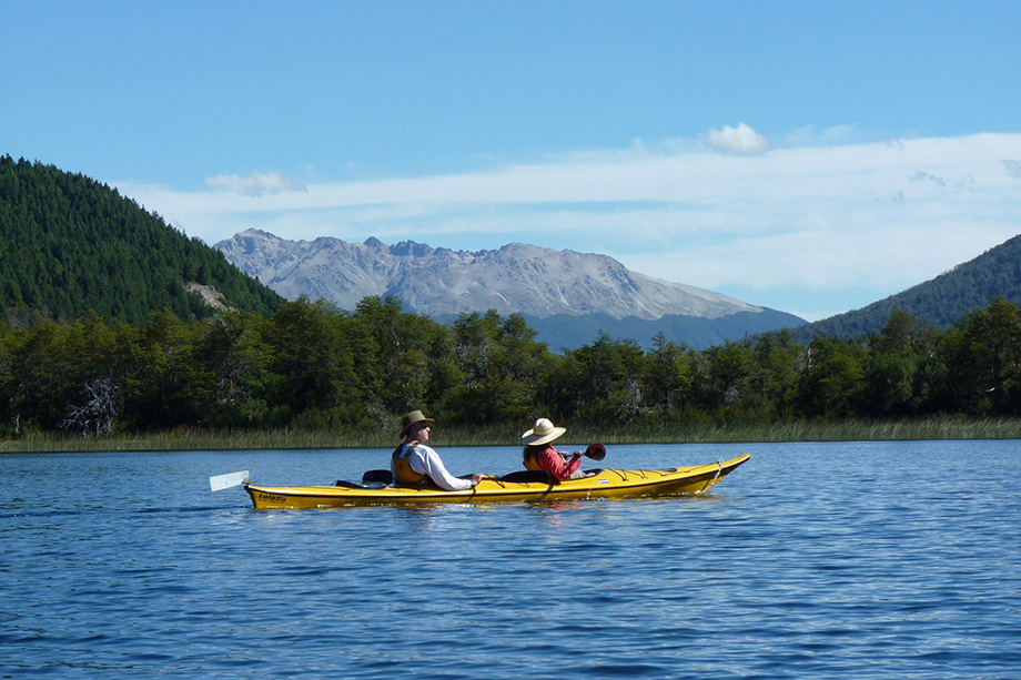 Kayaking at the Patagonia River Ranch